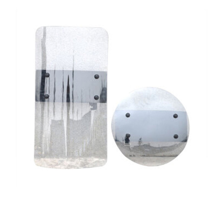Safurance Transparent PC Hand held Shield Anti Riot Shield For Security Protection Self Protect