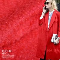 Free shipping! Rose red Plush circle winter clothing fabrics wool fabric wholesale wool cloth