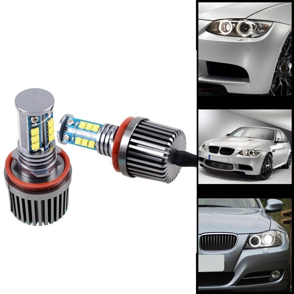 Super Bright 120W H8 6000K Error Free CREE Chips LED Light Bulb Angel Eye Bulbs For BMW 1 3 Z Series E82 E88 E89 E90 E92 E93 M3