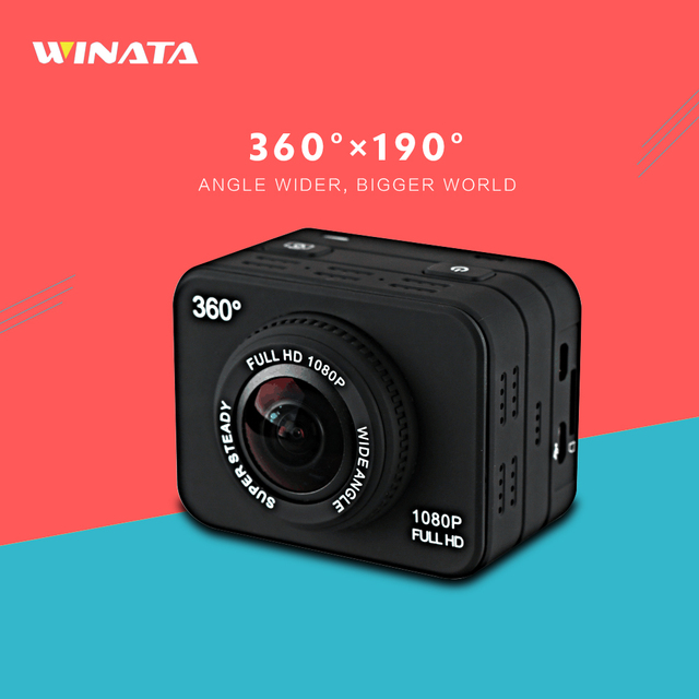 AR0330 Full HD 360 Panoramic VR Action Camera 1080P 360*180 Wide-angle Fish eyes VR Sports Camera Waterproof 2.0inch Mini Camera