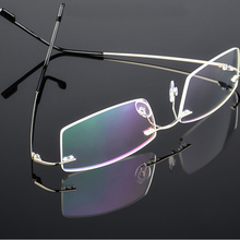 Гибкая титановая оправа для очков без оправы с эффектом памяти для женщин и мужчин, легкие оптические очки Oculos De Grau, оправа для очков s127