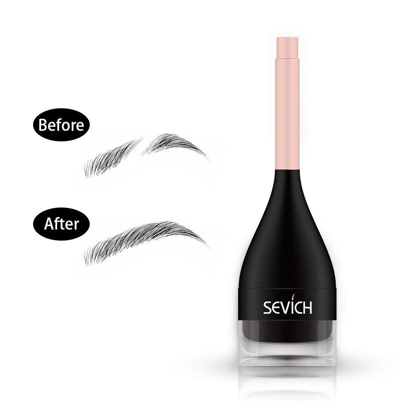 Extensión de fibra de CEJA SEVICH crema de extensión de pelo de cejas instantánea a prueba de agua con cepillo de cejas para mujeres y hombres