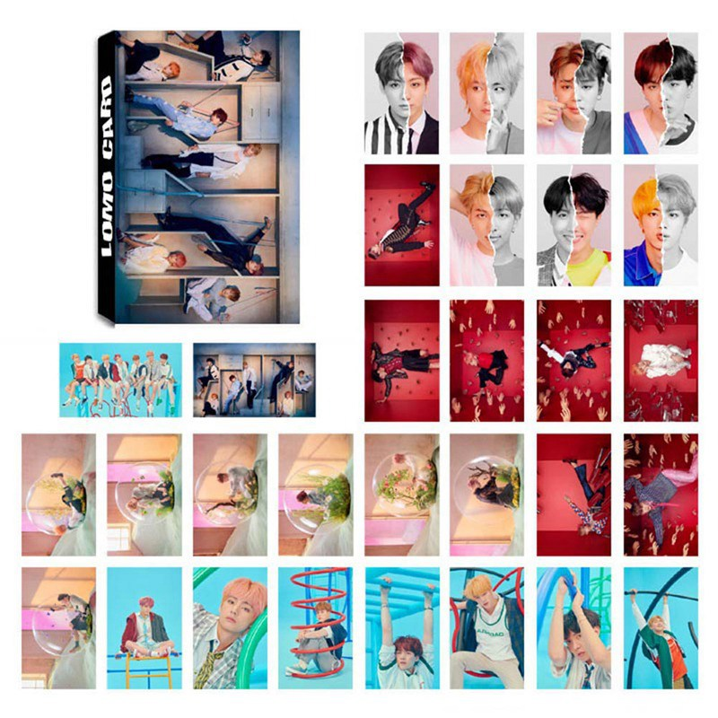 32 Pcs/set KPOP BTS Bangtan Boys LOVE YOURSELF Tear Album Transparent Photo Card PVC Cards Self Made LOMO Card Photocard
