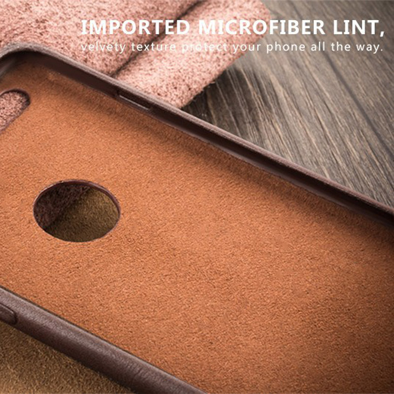 35f2c0b9316 QIALINO Calf Skin Genuine Leather Phone Case For Iphone 6S Plus Ultra Thin  Slim Fashion Cases For Iphone 6 Plus i6+ Back Cover-in Half-wrapped Case  from ...