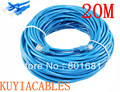 Бесплатная Доставка + номер для отслеживания! синий футов CAT5E CAT5 RJ45 Ethernet Интернет Патч Кабель Lan Кабель Сетевой Кабель 20 М Новый