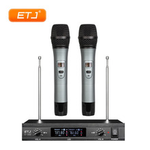 купить Professional Wireless Microphone 2 Handheld Transmitter Bodypack Headset Microphone Beltpack VHF Wireless Microfone U-103 дешево