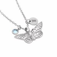 IJD8144 DIY Charm Biżuteria dla Kobiet NOWY Hollow Butterfly Kremacja Wisiorek Naszyjnik Ze Stali Nierdzewnej dla Zwierząt Domowych/Zwierząt Popiołów