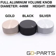 High End 44*22mm Solid Full Aluminum Knob Volume Potentiometer Cap For Turntable Recorder Radio AMP DAC CD DVD Hifi Audio DIY