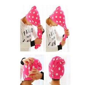 Image 5 - Gorro mágico de secado rápido para mujer de 25x62 cm, toalla para el cabello de secado rápido, Toalla de baño de hermoso secado, gorro envolvente de cabeza suave, Cosméticos de maquillaje, toallas para el cabello