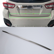 OUBOLUN stainless steel exterior car accessories rear door moulding cover high quality For SUBARU XV 2017