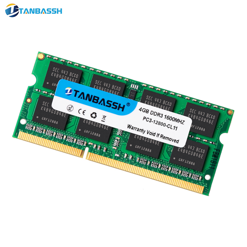 4GB 8GB 16GB DDR3 PC3-12800S 1600 MHz 204-pin 1.5v Non-ECC SO-DIMM Laptop Memory