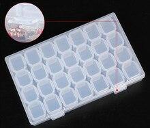 28Cases Nail Art Storage Case Glitter Gems Decoration Box