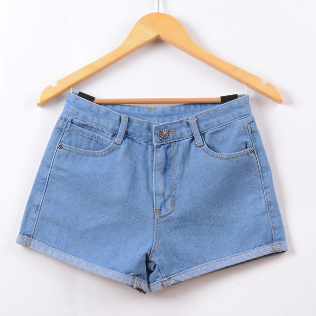 2017 New Hot High Waist Stretch Denim Shorts