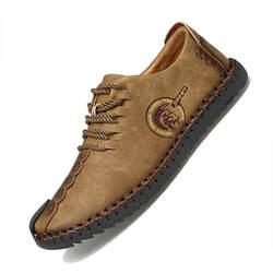 MinanSer/модная кожаная повседневная обувь, Мужская винтажная обувь ручной работы на плоской подошве, на шнуровке, лидер продаж, Мокасины, chaussure