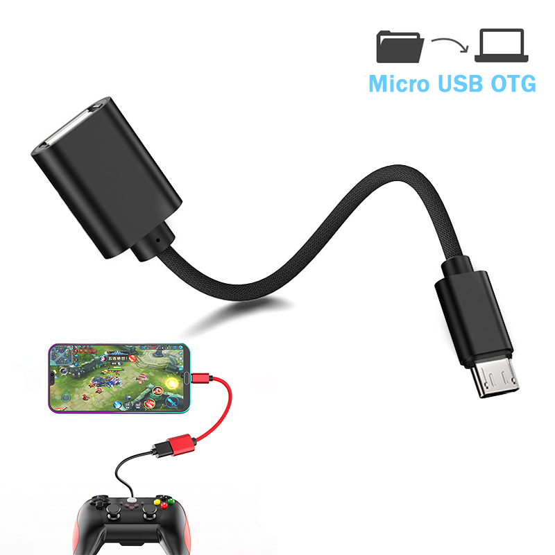 OTG Cable For Android Micro USB Data Transfer With OTG Power Connector For Xiaomi HTC Samsung Tablet USB Male To Female Adapter