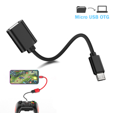 OTG Cable For Android Micro USB Data Transfer With OTG Power Connector For Xiaomi HTC Samsung Tablet USB Male to Female Adapter цена
