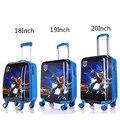 18 '' 19 '' 20 '' Transformers equipaje rodante para niños / niños fresco viajar Trolley Case / cabritos de la historieta ABS del bolso de escuela sobre ruedas
