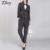 Nova Chegada da Primavera 2016 das Mulheres da Moda Calças De Negócios Ternos Listrados Brasão magro Blazer Ternos Para Mulheres 2 Peças Set Free grátis