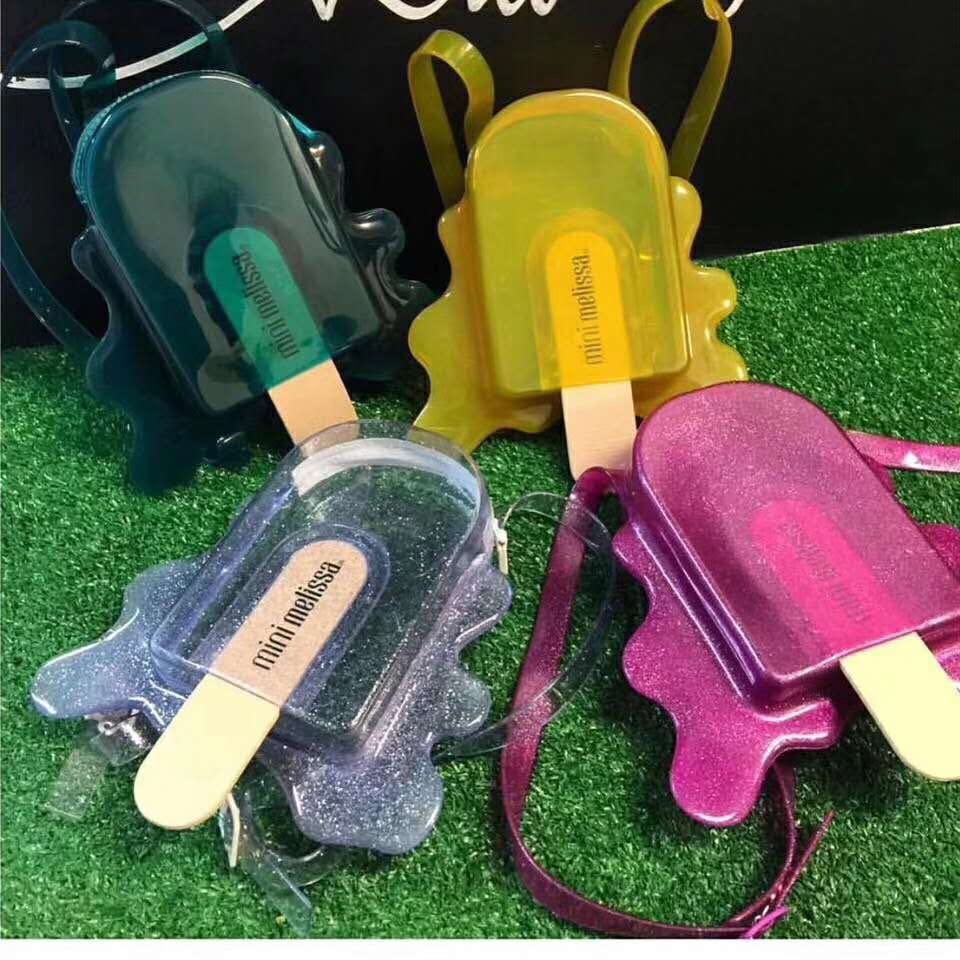 Melissa Jelly Shoes Bag  Original Popsicle Bag Girl Jelly Sandal two Color