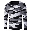2017 Camouflage Sweaters Men Knitted Casual Long Sleeve Sweater Men Sweater Male Sweaters Pullover Slim Fit Pull Homme