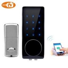 gujia smartphone bluetooth padlock bluetooth smart electronic door lock app code deadbolt for hotel and apartment