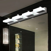 Modern Brief Stainless Steel Acrylic Led Mirror Light Fixture Home Deco Bathroom Mirror Cabinet Wall Sconce