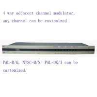 4 way CATV modulator Adjacent Frequency Modulator for hotel/school/dormitory 4 AV in 1 RF out PAL-B/G, NTSC-M/N, PAL-DK/I