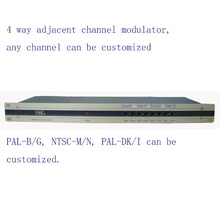 Modulateur de fréquence Adjacent de modulateur de CATV de 4 manières pour lhôtel/école/dortoir 4 AV dans 1 RF out PAL B/G, NTSC M/N, PAL DK/I