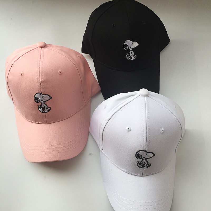 Embroidery Character Pattern Casual Baseball Cap For Men Women Snapback Black White Pink Summer Polyester Dad Hats Free Shipping 2016 new new embroidered hold onto your friends casquette polos baseball cap strapback black white pink for men women cap