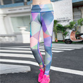 2016 Autumn New Slim Printing 2 Colors Fashion Women Leggings Stretch Fitness Leggins Trousers