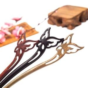 Специальная китайская ручная резная бабочка с натуральным ароматом, заколка для волос, женские винтажные украшения, подарок для женщин