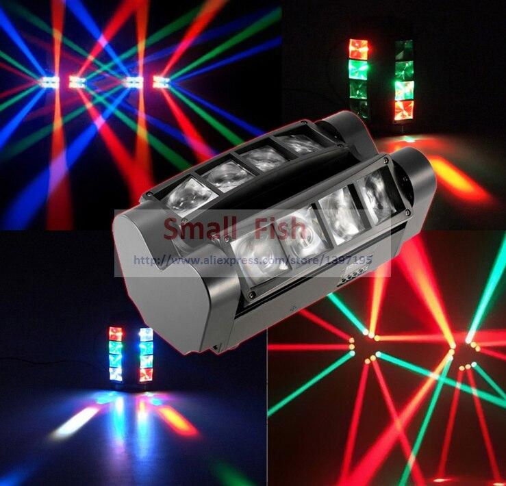 2020 horký přenosný NOVÝ pohybující se světlomet mini LED Spider 8x3W RGBW paprskové světlo disco DJ DMX jeviště efekt dobrá kvalita rychlá dodávka