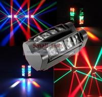 2020 heißer Tragbare NEUE Moving Head Licht Mini LED Spinne 8x3 W RGBW Strahl Licht Disco DJ DMX bühne Wirkung Gute Qualität Schnelle Schiff-in Bühnen-Lichteffekt aus Licht & Beleuchtung bei