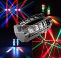 Portable caliente 2017 nueva luz principal móvil mini LED araña 8x3 W rgbw haz de luz DJ DMX efecto de etapa buena calidad