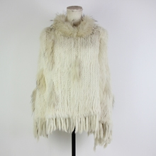 2019 new thick Winter Women Real Rabbit Fur Hooded Poncho Wide Pullover Cape Shawl Coat fur ponchos