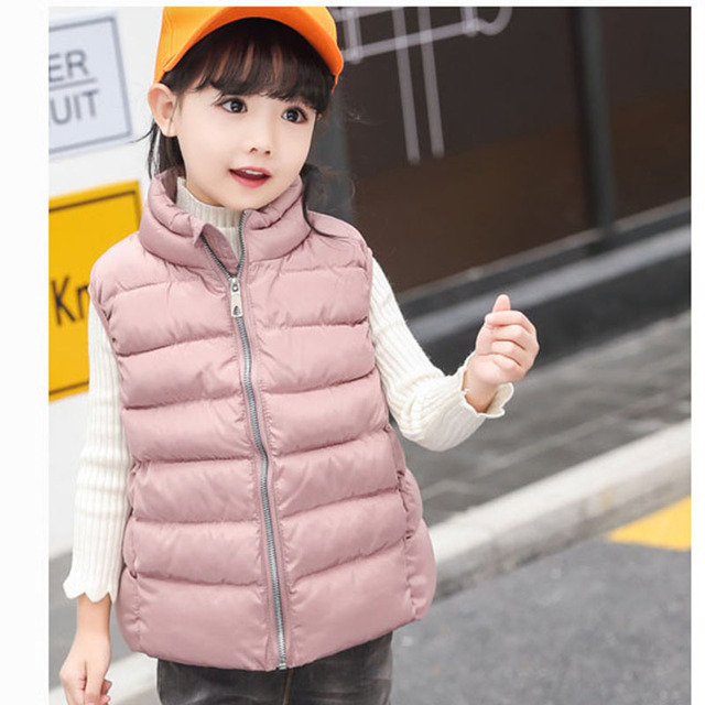 f04041b63f0a fashion 2018 kids solid sleeveless winter jackets vest boys tops ...