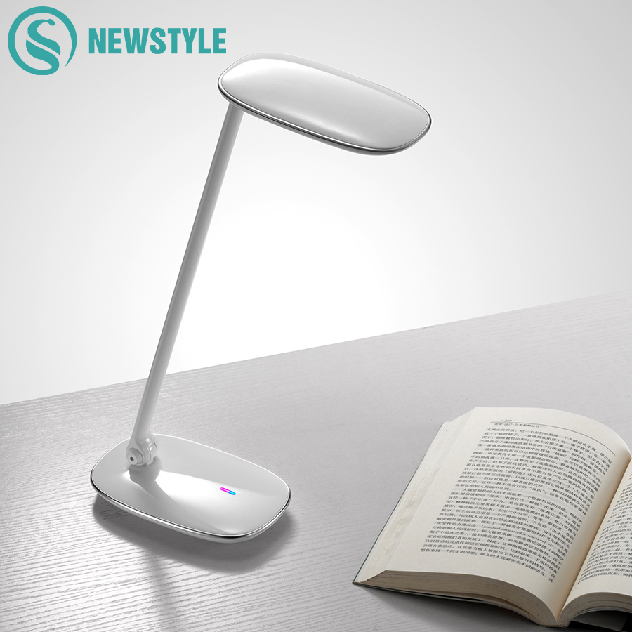 9W Eye-Protection LED Table Lamp Touch Switch Dimmable Desk Lamp 3Modes Reading Book Lamp for Study Office Desktops yage desk lamp book reading night light colorful lamp for study non limit brightness 34pcs led 3 modes lamp eu usa uk plug