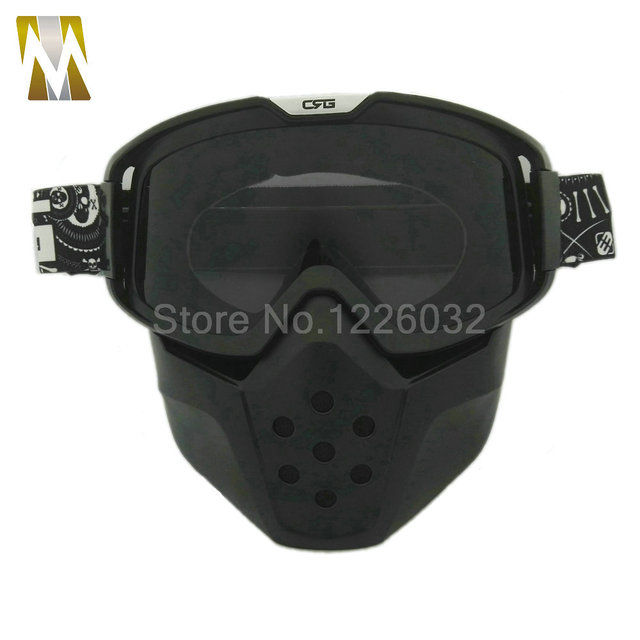 ba8b57fc7c Nueva Alta Calidad Ahumado lente Motocicleta Casco Modular Desmontable  Sport Goggle Mascarilla de Polvo Boca Muti
