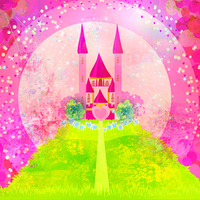Thin Fabric Cloth Printed Photography Background Children S Castle Backdrop 5ft X 7ft D 745