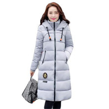 2016 Winter New Korean Women Long Wadded Jacket Parkas Thick Cotton-Padded Coat And Jacket Outerwear female LJ4297