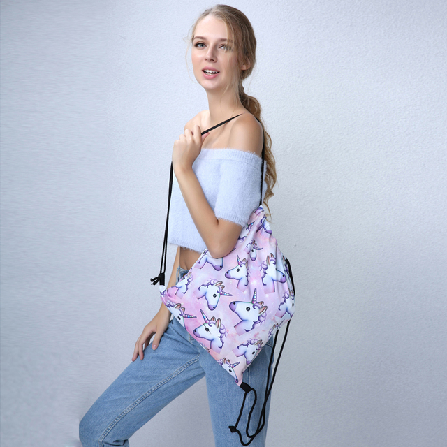 3pcs Unicorn Backpack Shoulder Drawstring Bags For Teenage