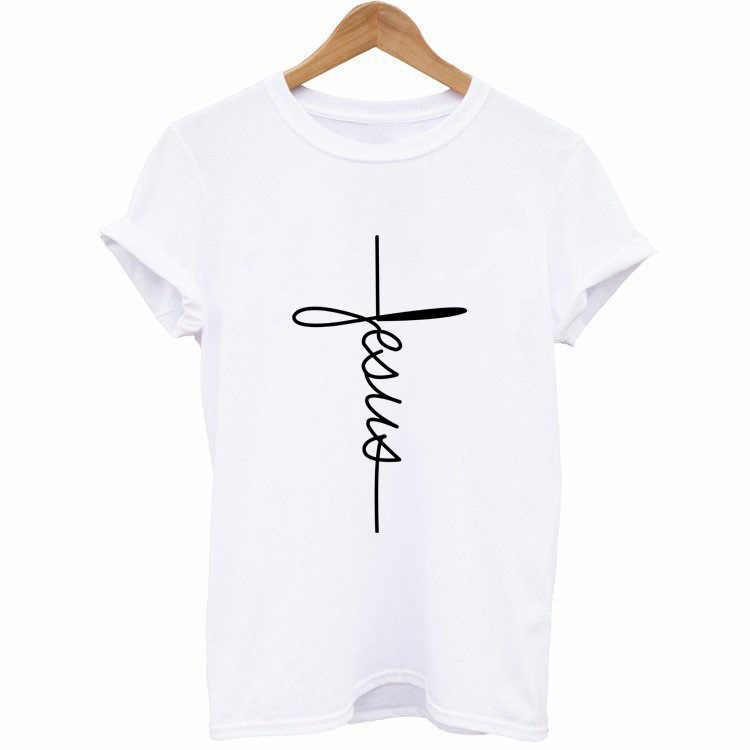 الإيمان إلكتروني طباعة T قميص المرأة قصيرة الأكمام يا الرقبة فضفاض التي شيرت 2019 الصيف المرأة المحملة قميص قمم Camisetas موهير