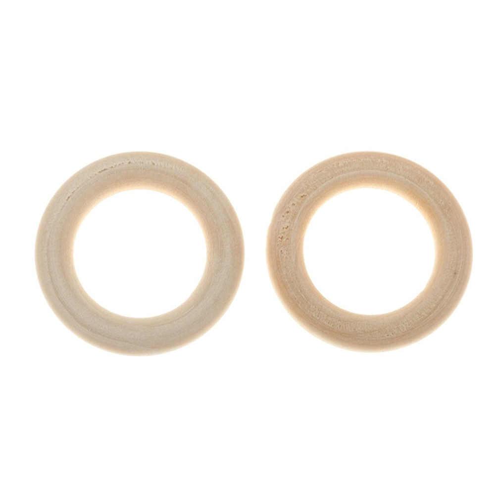 50 шт деревянные кольца для рукоделия, Кольцо Кулон и Разъемы Изготовление ювелирных изделий диаметром 1,18 дюйма (30 мм)