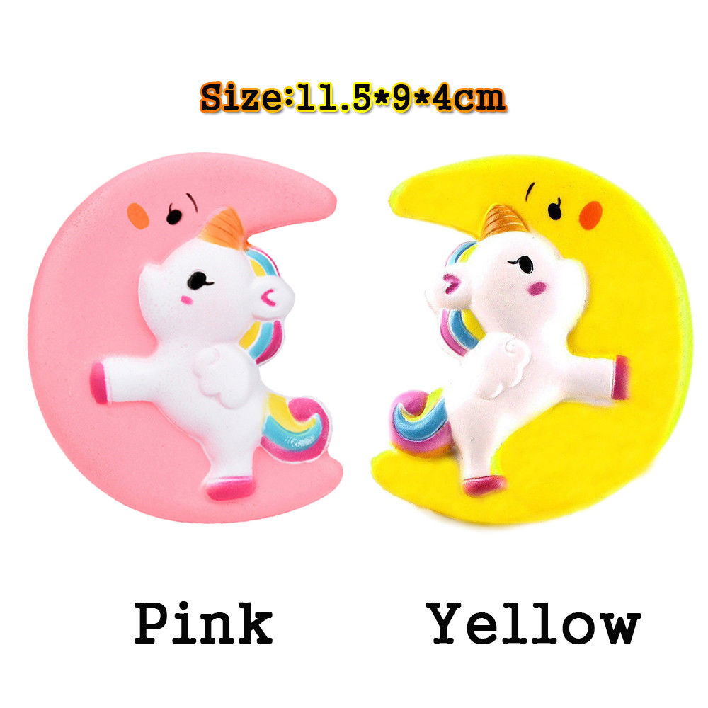 Cartoon Unicorn Squishy Jumbo Slow Rising Cute Moon Kid Toy Collectibles Soft Cookie Bread Wishlist Toy Gift