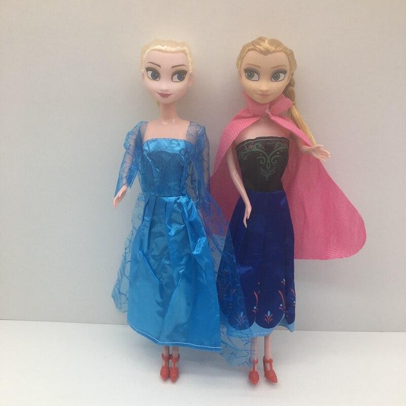 3pcs /lot Princess Anna Elsa Rubber Dolls Snow QueenFor Kids Cartoon Bjd Doll Girls Toys Birthday Christmas Gifts
