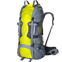 70L Professional CR System Outdoor Bag Climbing Rucksack Large Capacity Aluminum Alloy Frame Toughness Waterproof Backpack