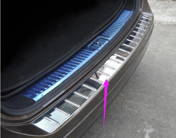Для Volkswagen 11 18 TOUAREG задняя защита доска ABS Материал резерв коробка снаружи защита пластина Хвостовая дверь педаль заднего украшения