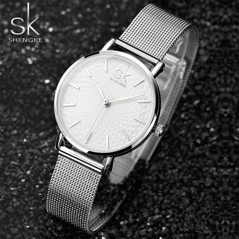 Women s Watch SK Luxury Brand Watch Lady Gold Bracelet Fashion Geneva Quartz Watch Women Stainless