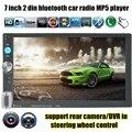 MP4 MP5 Player de Rádio controle de volante Do Bluetooth Estéreo Do Carro 2 Din Tela Sensível Ao Toque de 7 Polegada 7 luzes de fundo 8 línguas