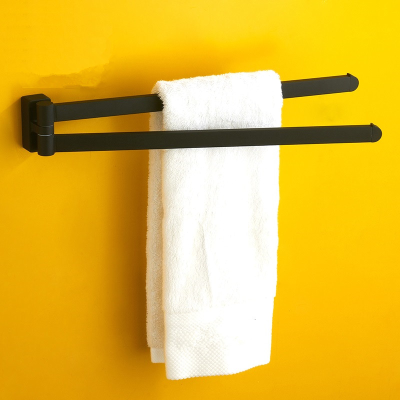 mttuzk black rotating towel rack bathroom stainless steel